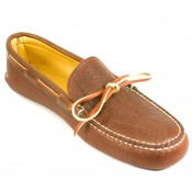 Deerskin Lined Buffalo Hide Soft Sole Moc