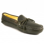 Buffalo Hide Deerskin Lined Triple Sole Canoe Moc