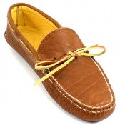 Deerskin Lined Bull Hide Soft Sole Moc