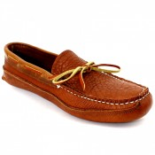 Mens Unlined Buffalo Hide Triple Sole Canoe Moc